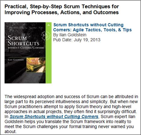 Scrum Shortcuts