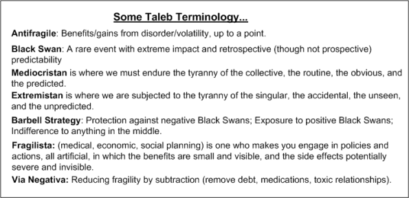 Taleb Terminology