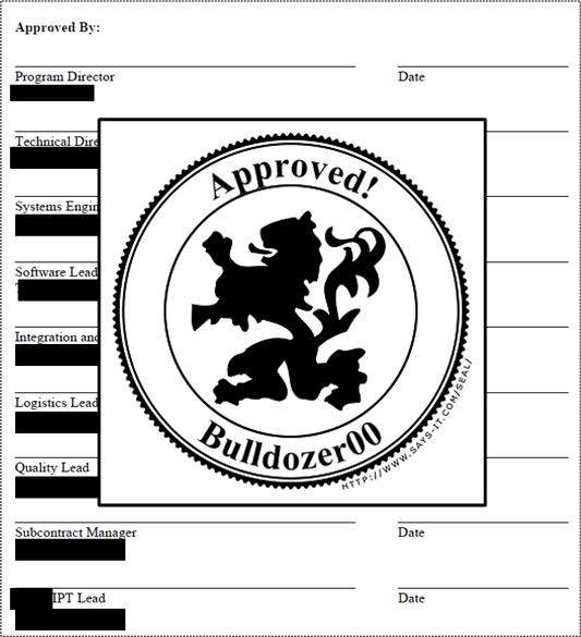 BD00 Approval
