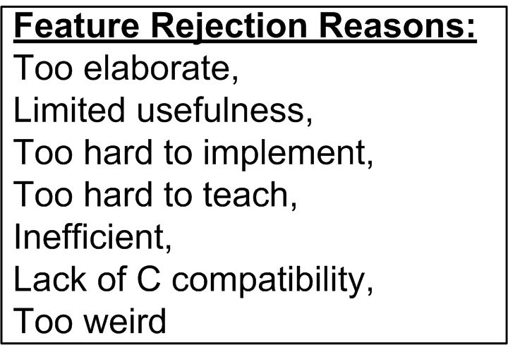 Feature Rejection