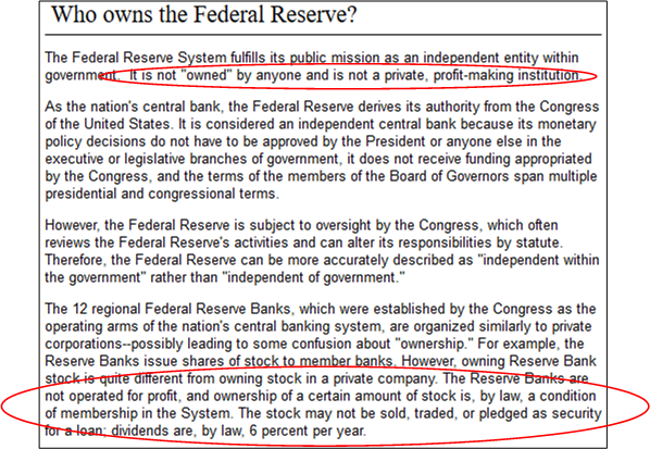 Fed ownership