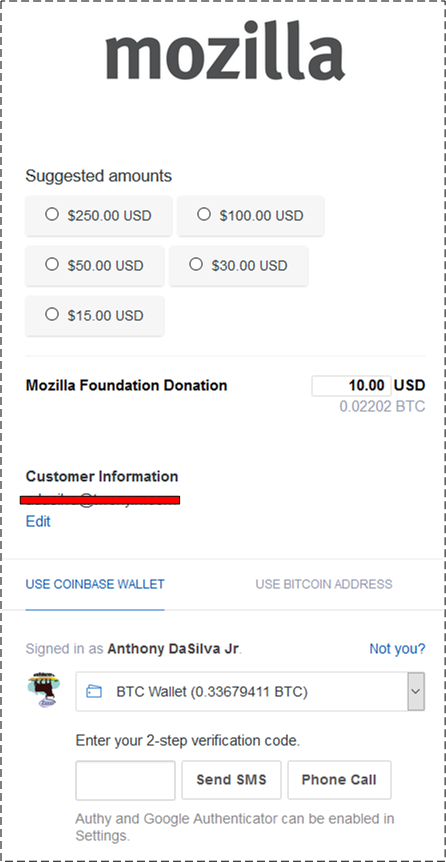bitcoinMozilla